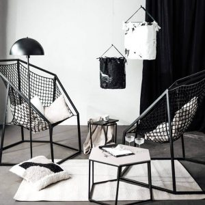 Set 2: Two small NUUK chairs and two tables of your choice